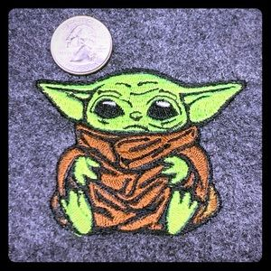 Star Wars Mandalorian Baby Yoda iron on patch x2